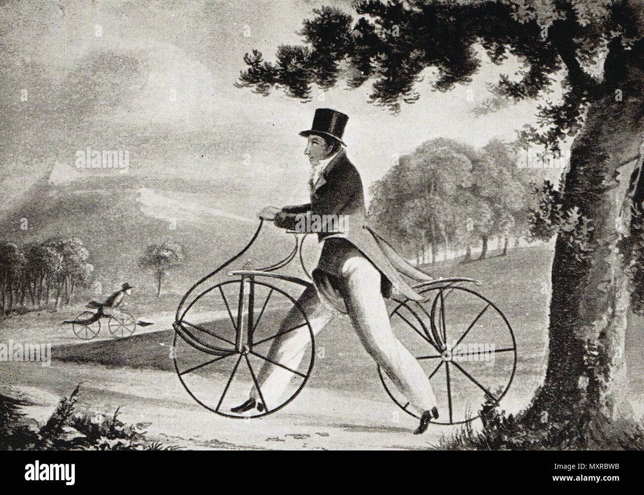La zone piétonne cheval, vers 1819 Banque D'Images
