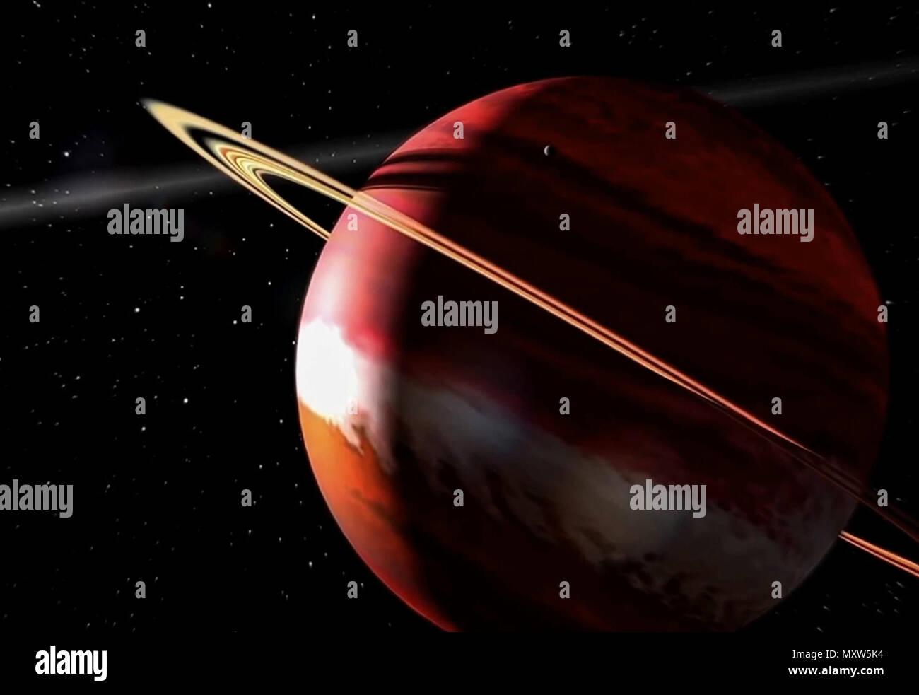 En liquidation prix bas design élégant La planète est une géante gazeuse avec des anneaux ...
