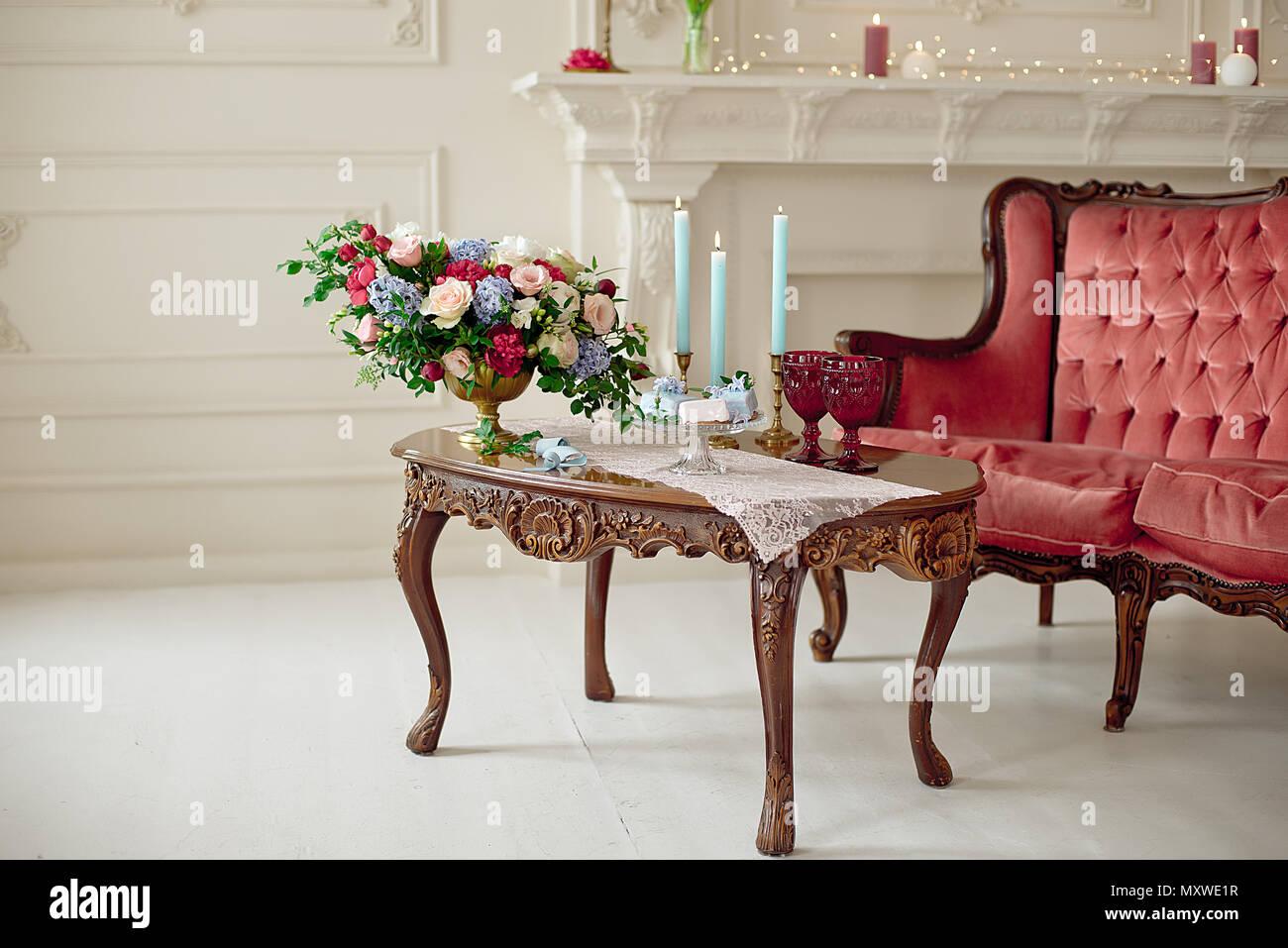 Tableau Vintage Decoration Interieure De Style Baroque Blanc En