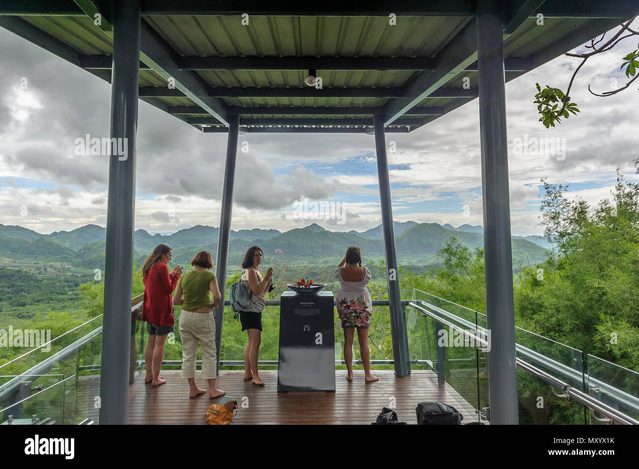 Musée commémoratif de l'Hellfire Pass, la province de Kanchanaburi, Thaïlande Banque D'Images