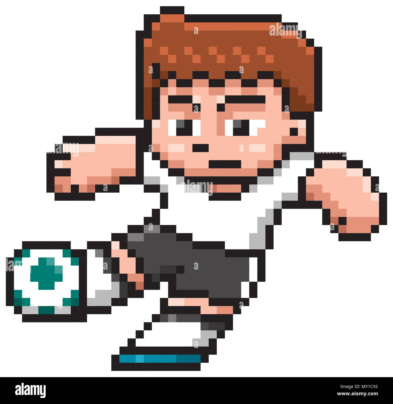Cartoon Vector Illustration De Joueur De Football