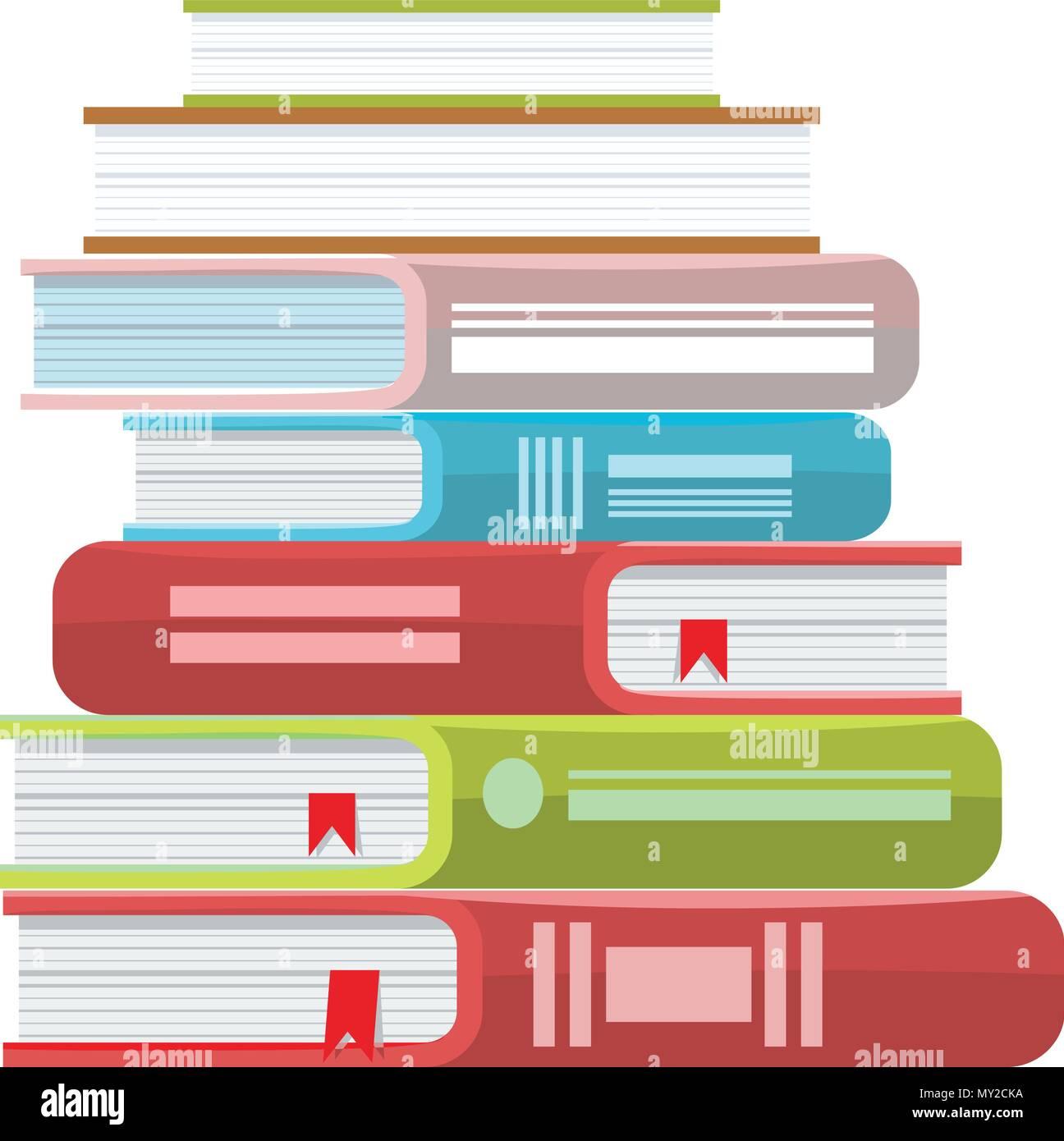 Pile De Livres Illustration Vectorielle Pile De Livres Avec