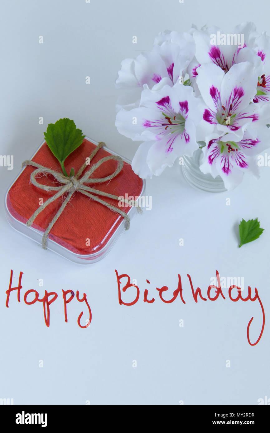Happy Birthday Greeting Card Flowers Photos Happy Birthday