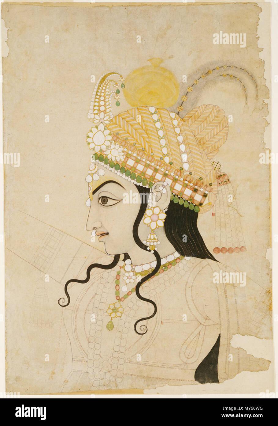 Anglais Chef De Krishna Cartoon Pour Une Peinture Murale