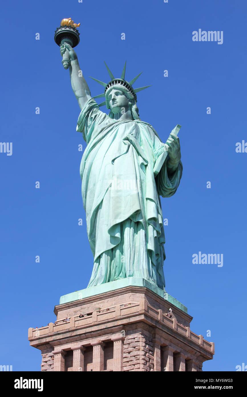 Symbole de l'Amérique - Statue de la liberté. New York, USA. Photo Stock