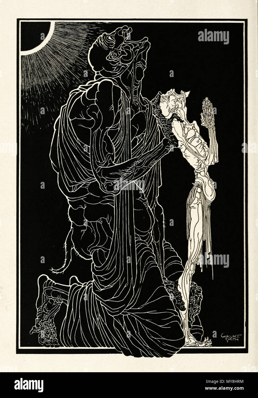 . Anglais : Blackguard Frontispice illustration . 1923. Wallace Smith 76 Blackguard frontispice Photo Stock