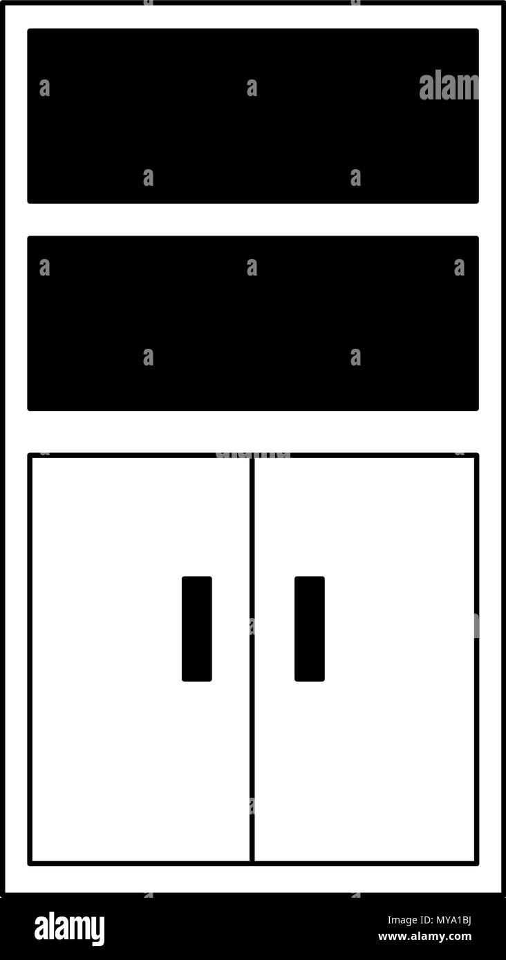 Bureau Noir Et Blanc classeur de bureau en noir et blanc vecteurs et illustration