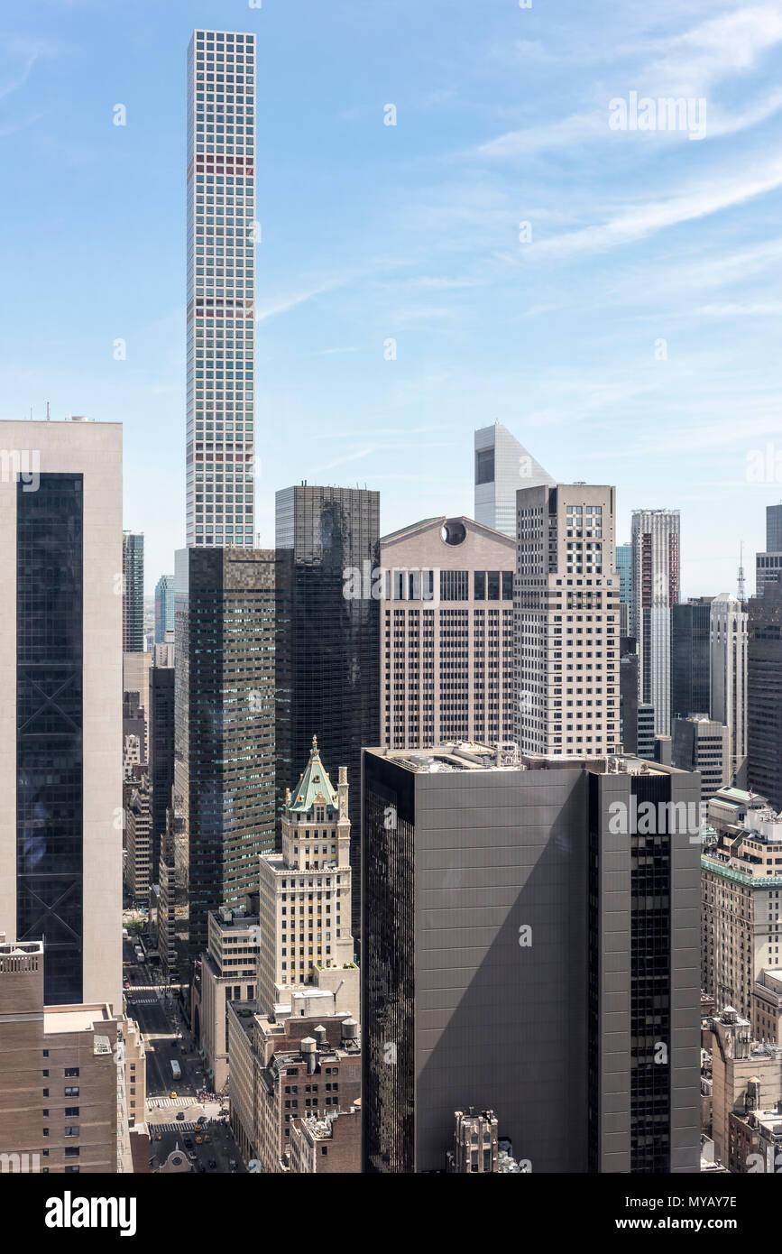 'Cityscape avec gratte-ciel à New York City, USA' Photo Stock