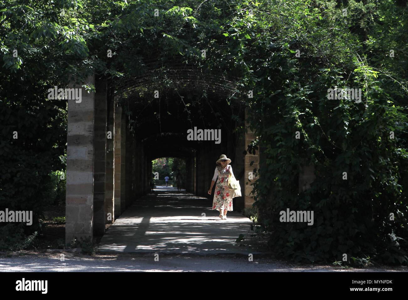 Le jardin national d'Athènes Grèce Banque D'Images