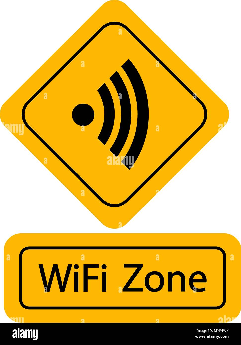 Wi-fi free zone sign Photo Stock