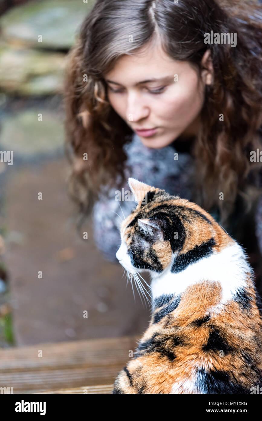 Adolescent fille avec humide chatte