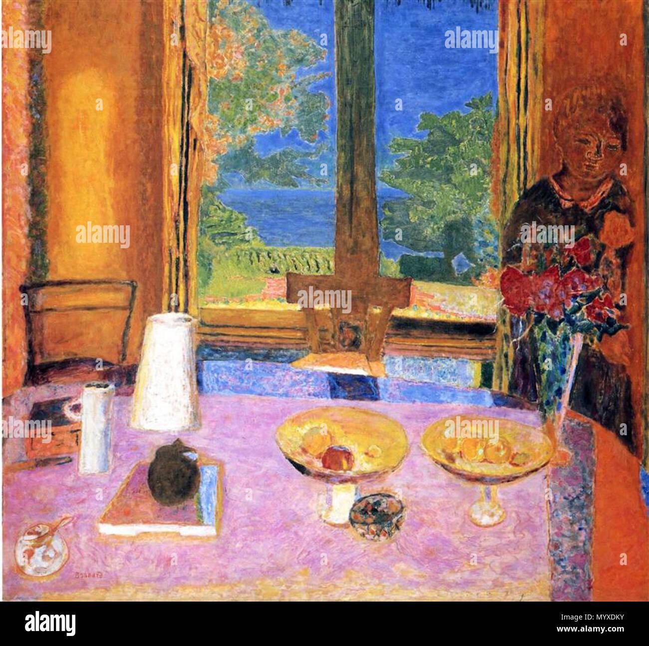 Anglais La Peinture De Pierre Bonnard Salle A Manger Sur Le