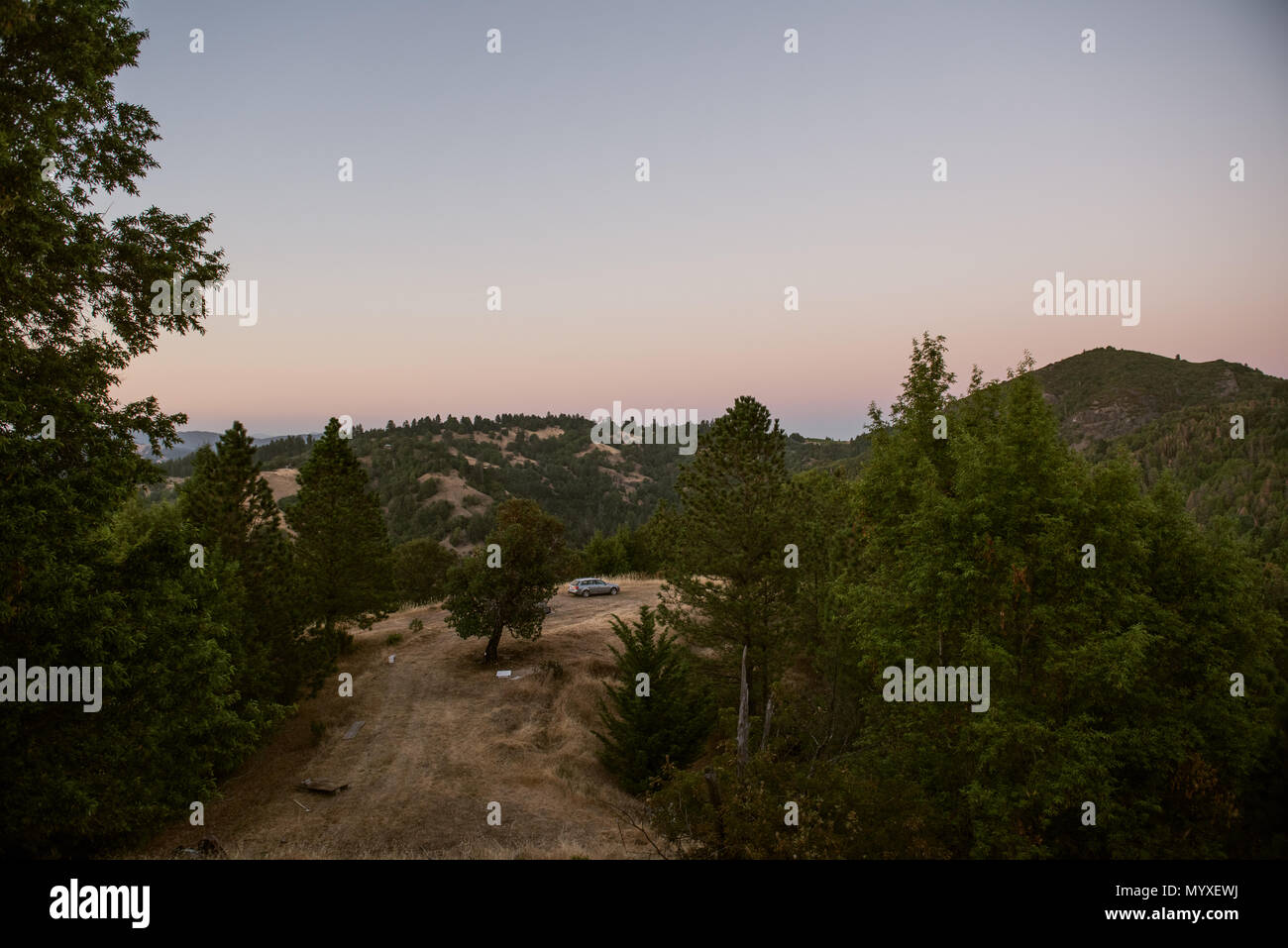 Location en camping dans la nature Photo Stock