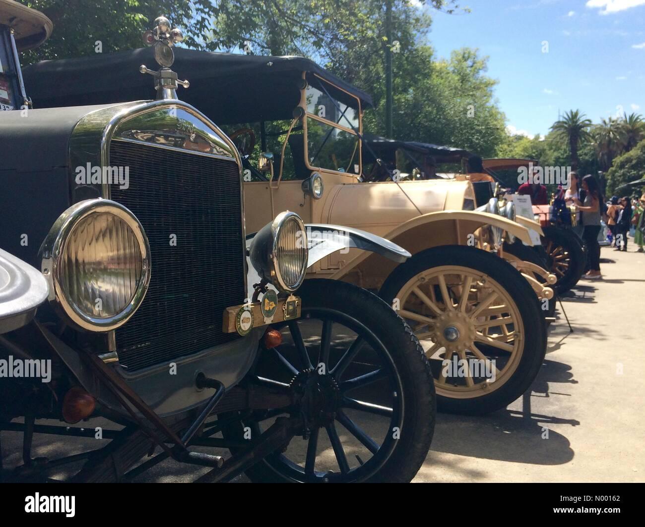 RACV Australie Russie jour affichage du véhicule, Kings Domain jardins, St Kilda Rd, Melbourne, Australie. Célébrations du Jour de l'Australie Banque D'Images