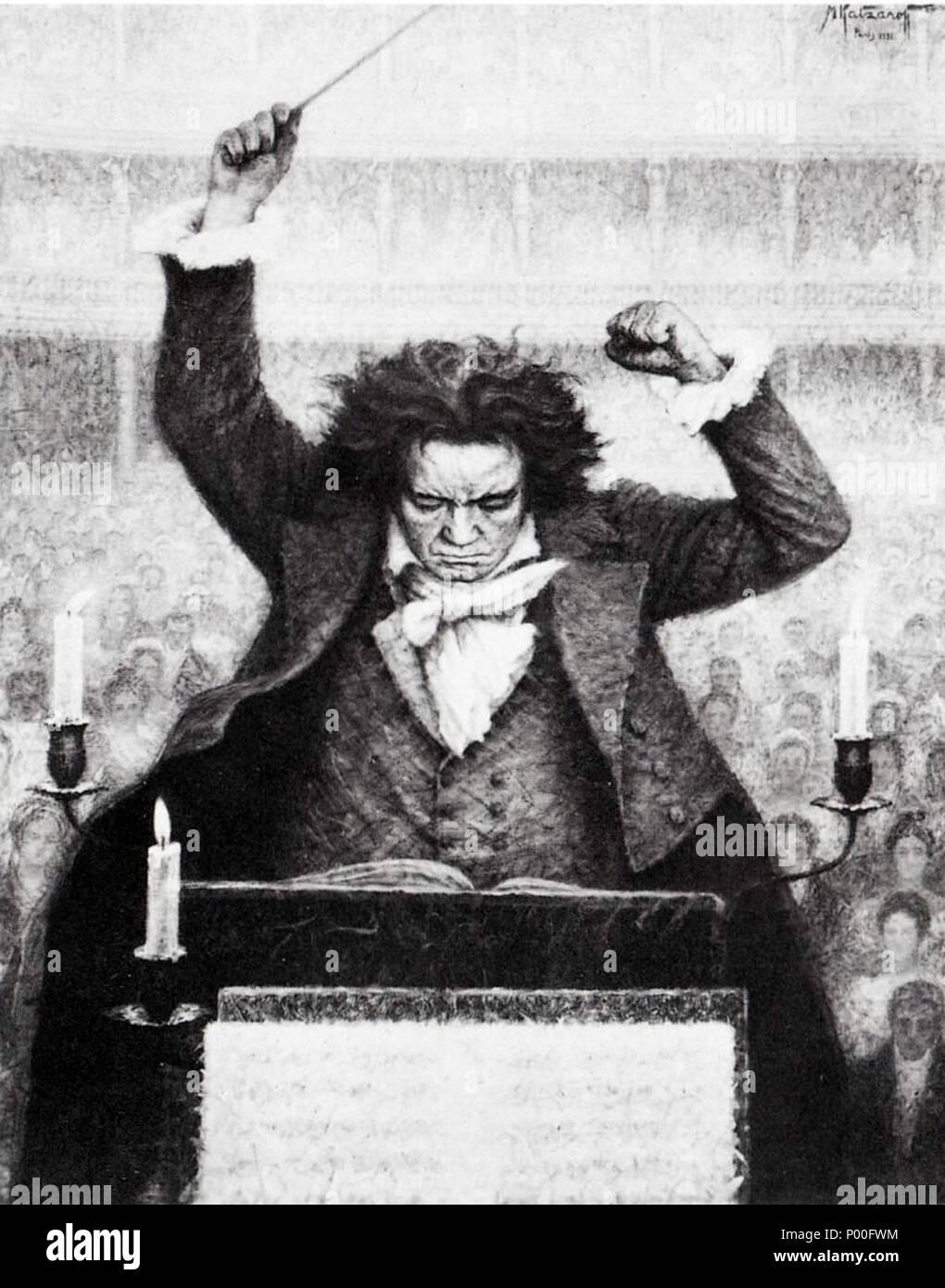 Baton Van Orchestre Avec Beethoven Par AnglaisLudwig Michel NO0vwnPym8