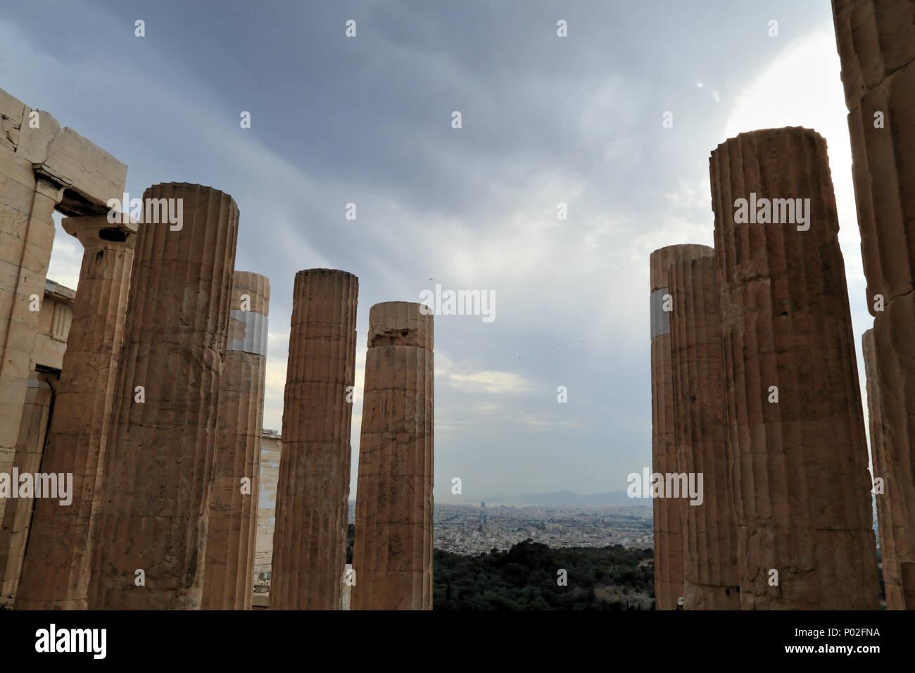 Ciel sombre, Athènes Photo Stock