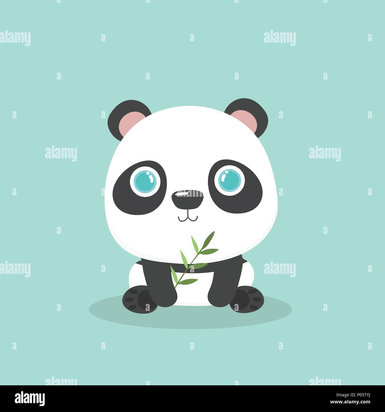 Illustration Vecteur De Dessin Animé Mignon Petit Panda Sur