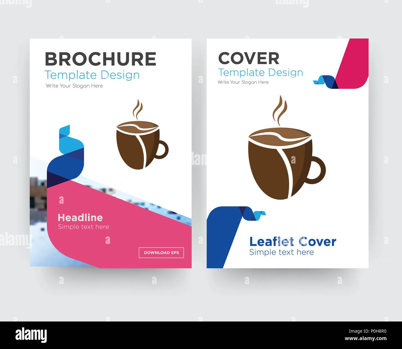 Modele De Conception De Brochure Flyer Cafeteria Avec Resume Photo