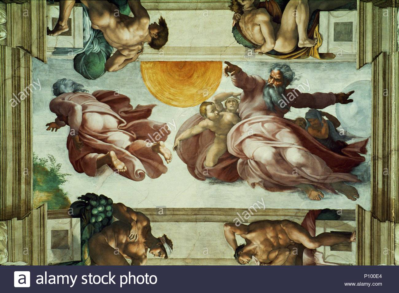 La Chapelle Sixtine Fresques Au Plafond Apres Restauration La
