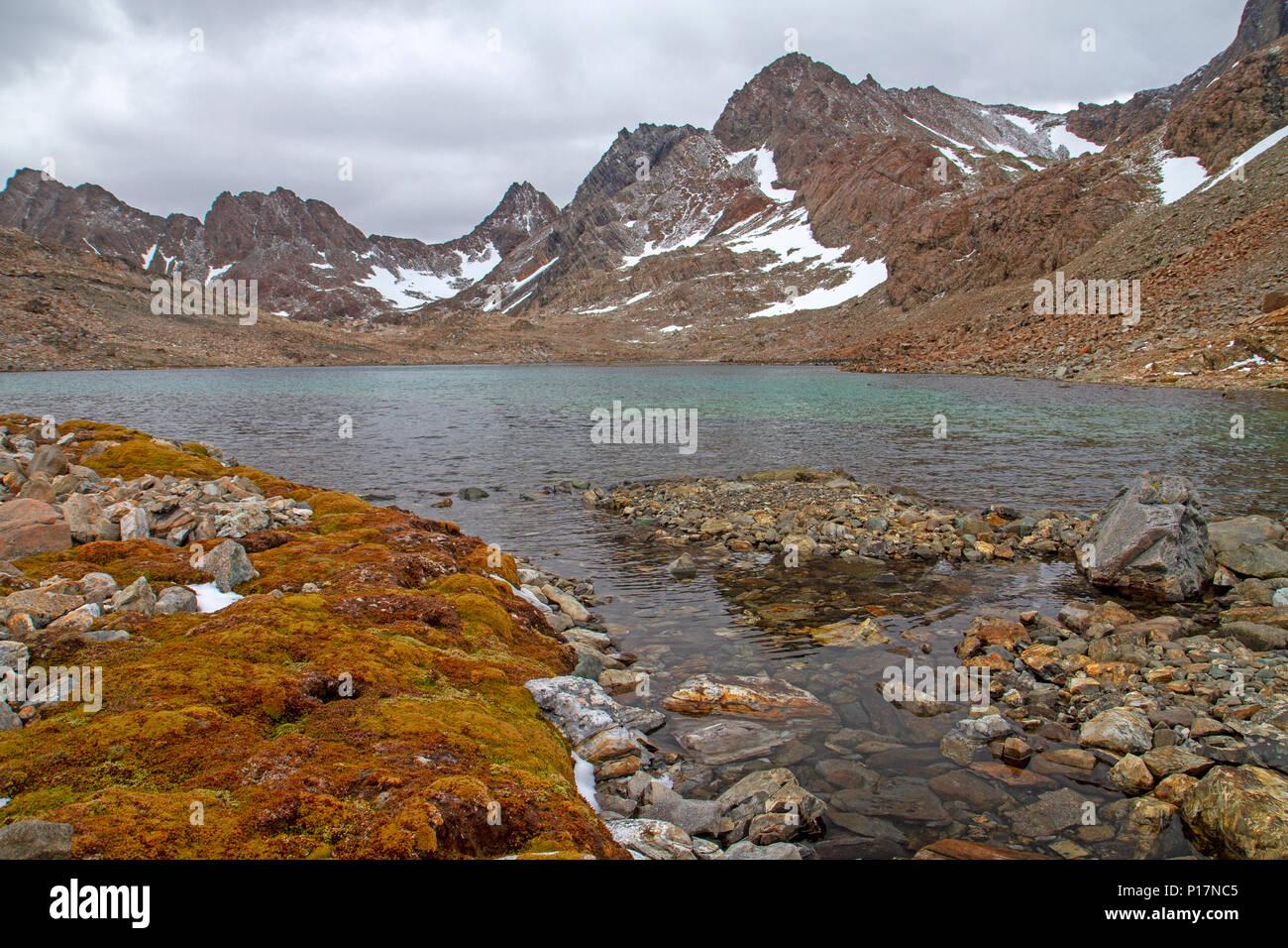 Laguna los Guanacos le long du circuit, le monde Dientes's Southernmost trek Banque D'Images