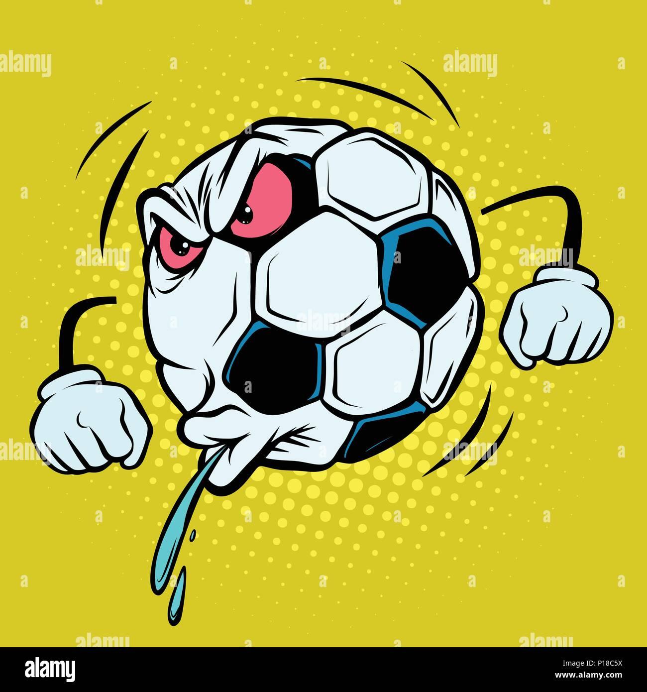 Cracher Reaction Du Ventilateur Ballon De Soccer De Football