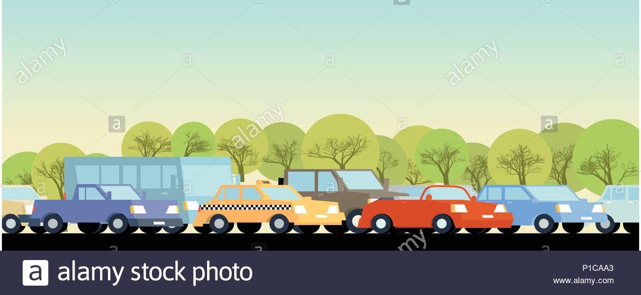 Embouteillage l'arrière-plan. La couleur utilisée. Photo Stock