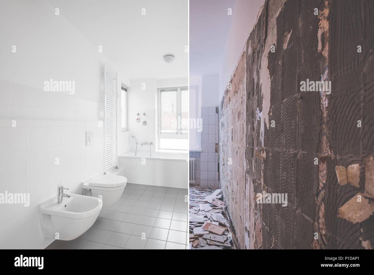 Rénovation Salle De Bain Avant Après rénovation des salles de bains carrelée - avant et après la