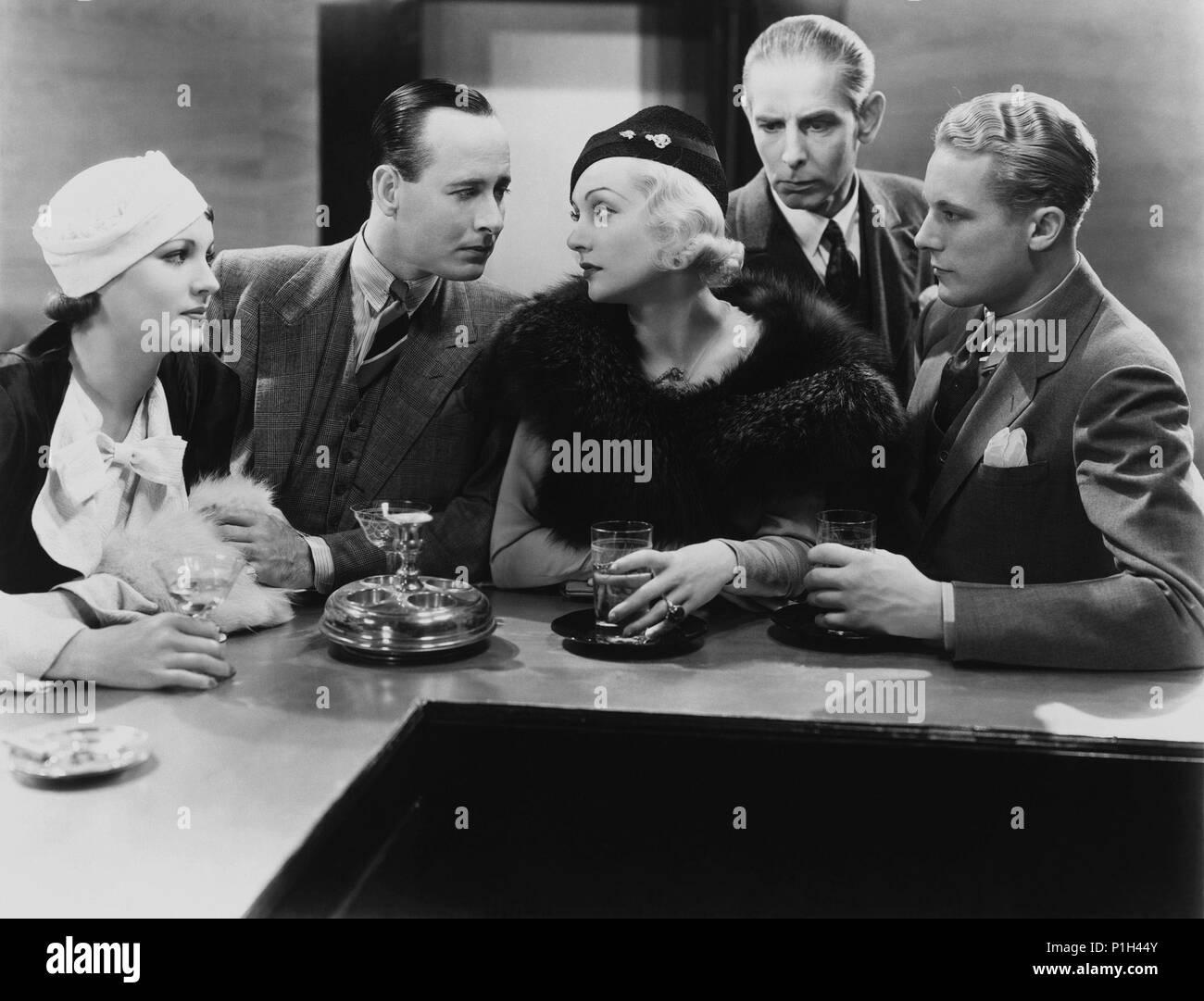 Titre original: bref moment. Titre en anglais: bref moment. Directeur du film: David Burton. Année: 1933. Stars: GENE RAYMOND, Carole Lombard. Credit: Columbia Pictures / Album Banque D'Images