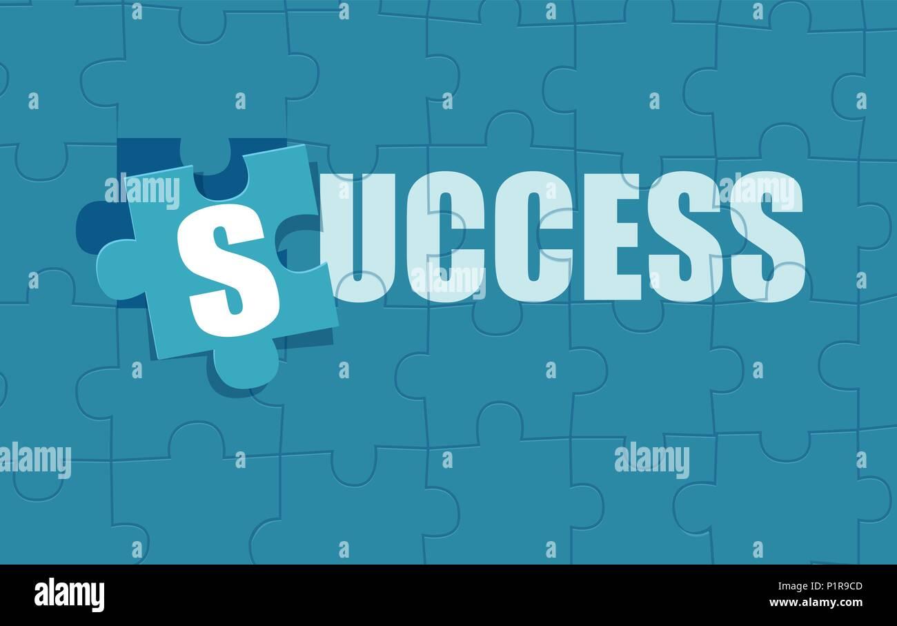 Télévision Vecteur de style photo jigsaw puzzle composé de mot succès. Illustration de Vecteur