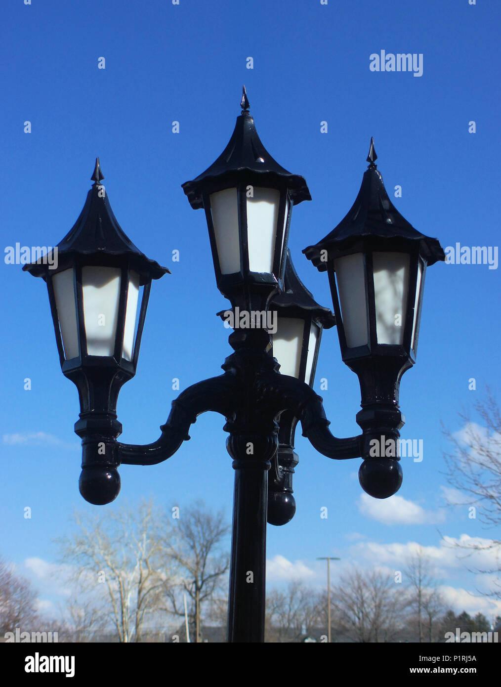 La lumière de jour pôle Photo Stock