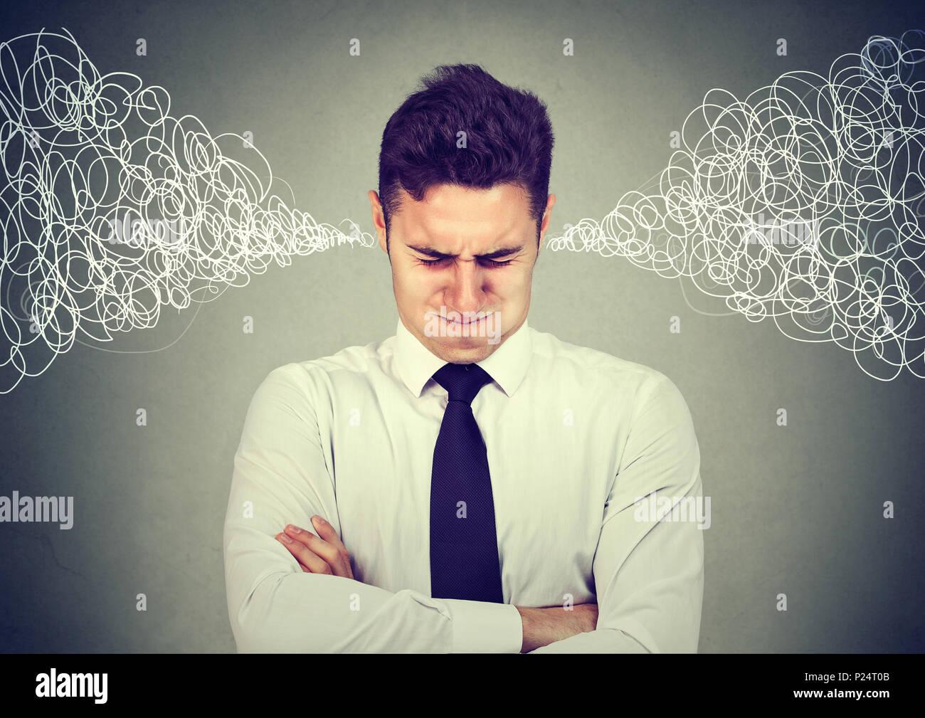 L'homme d'affaires stressé Photo Stock