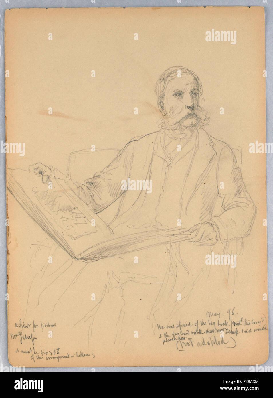 Anglais Dessin Etude Pour Un Portrait De M Morris K Jesup Esq