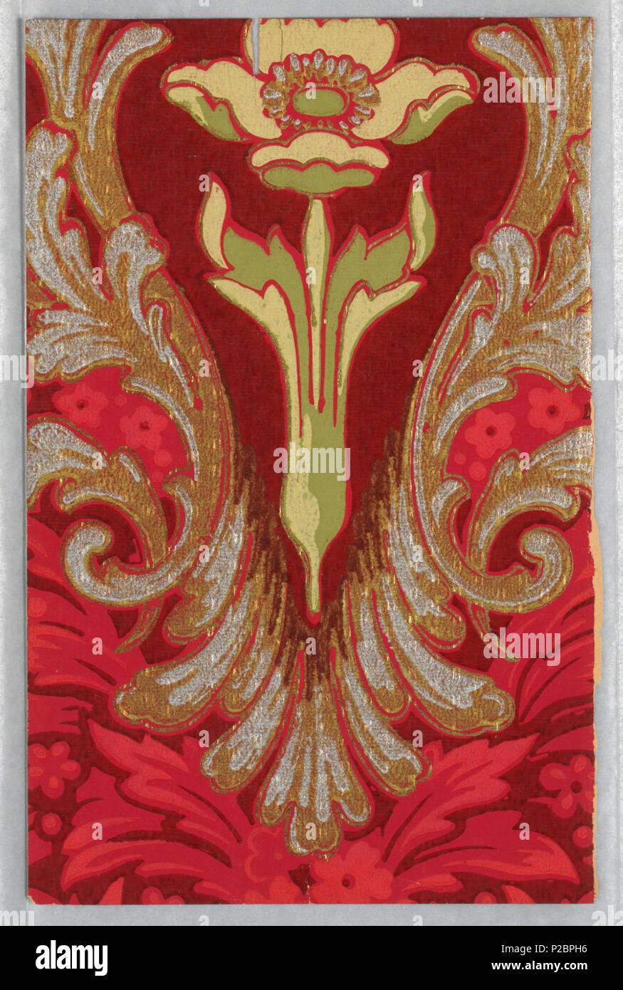 Anglais Flanc Fragment Usa 1905 Anglais Art Nouveau