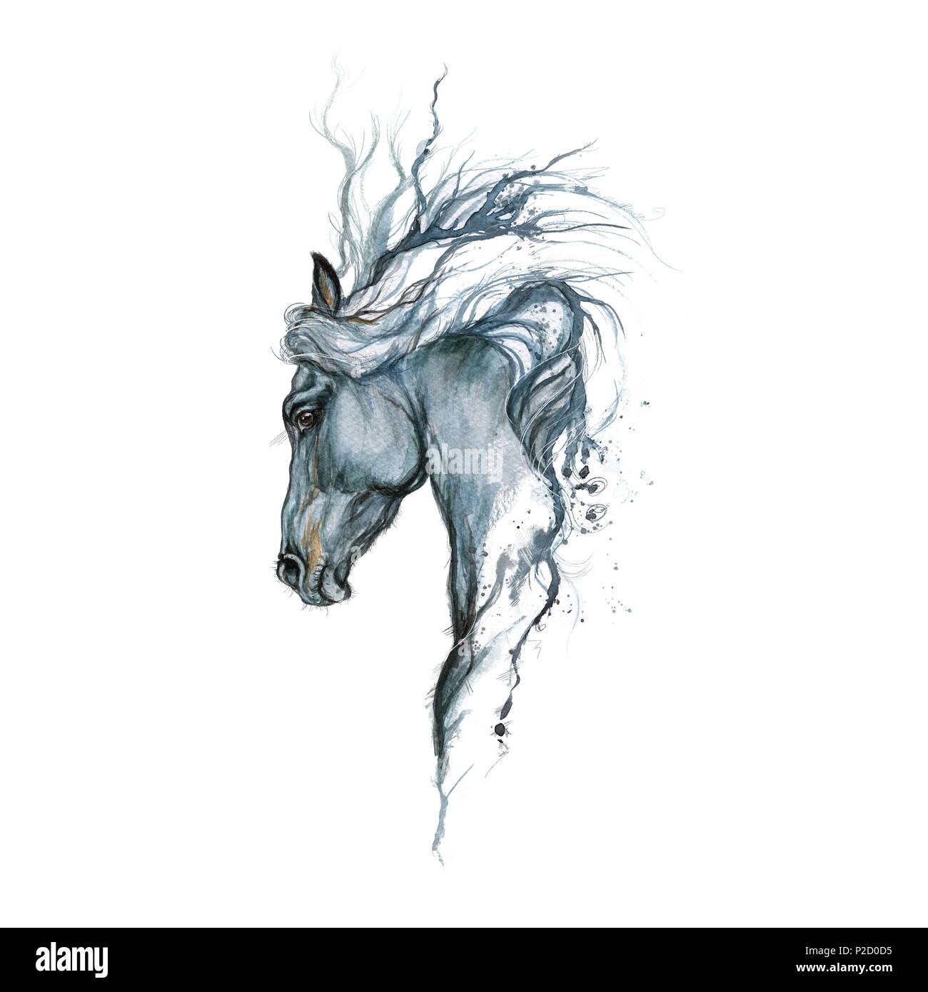 Peinture De Cheval Conception De Tatouage Banque D Images