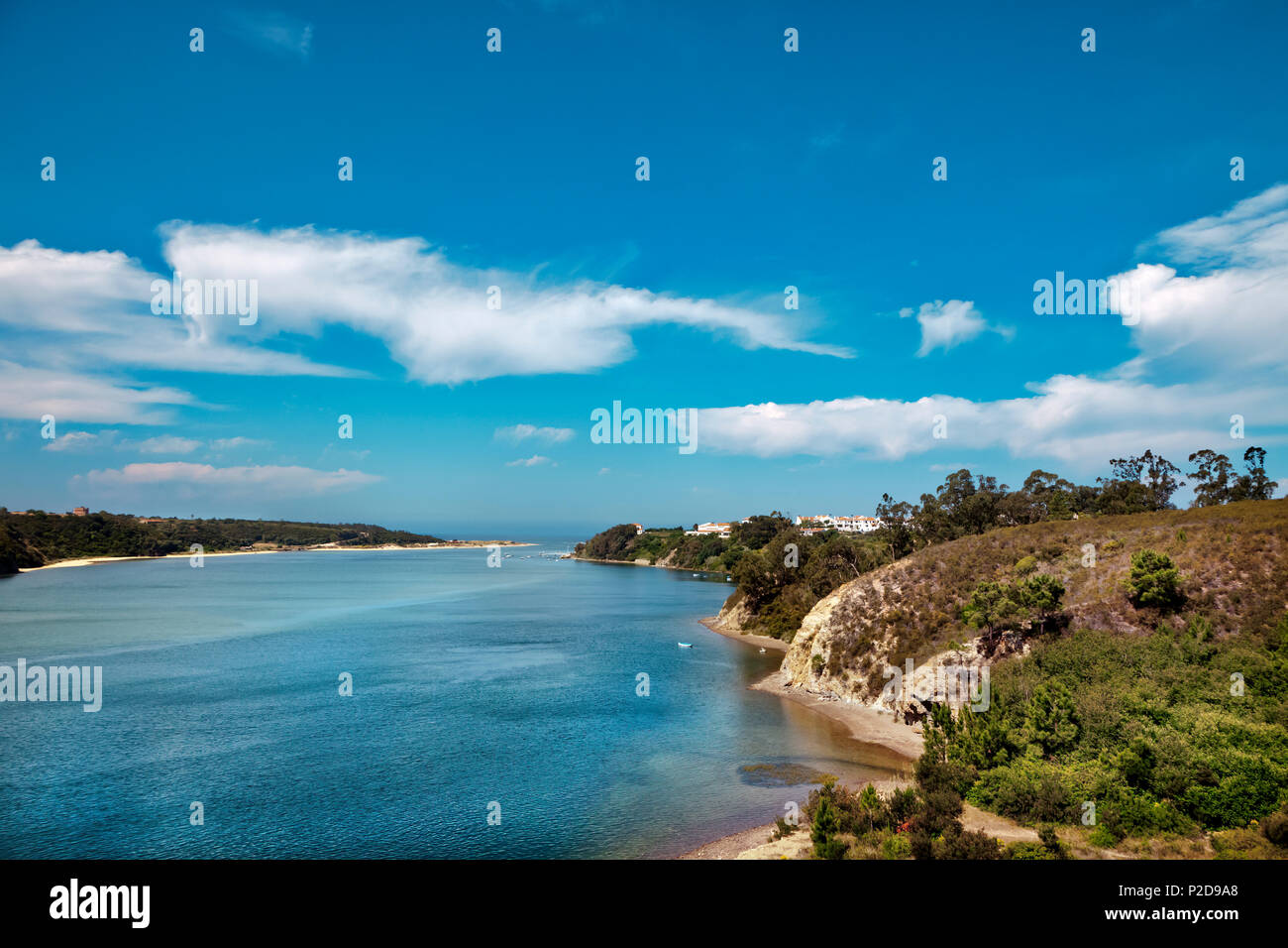 Bay, Vila Nova de Milfontes, Costa Vicentina, Alentejo, Portugal Photo Stock
