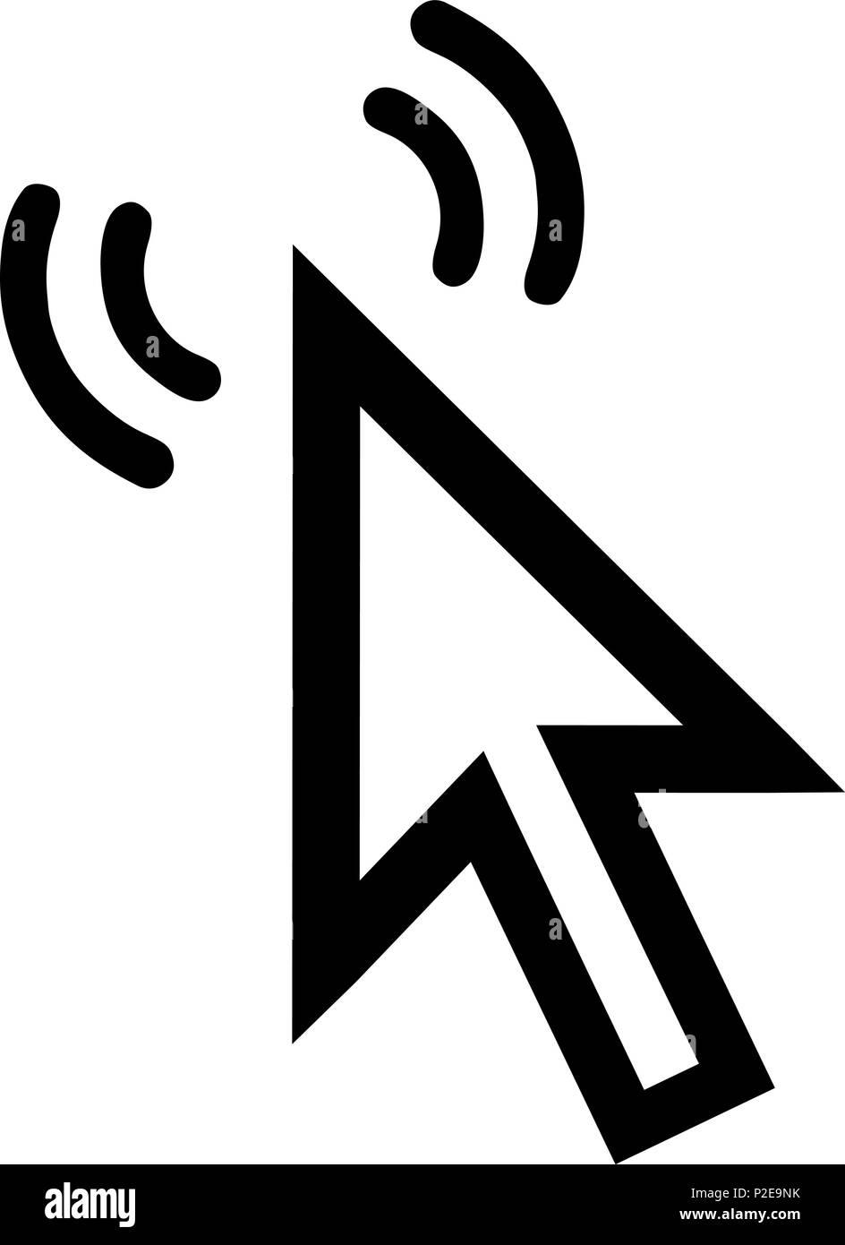 L Icone Du Curseur 2d Courbes Sur Un Livre Blanc Vecteurs Et