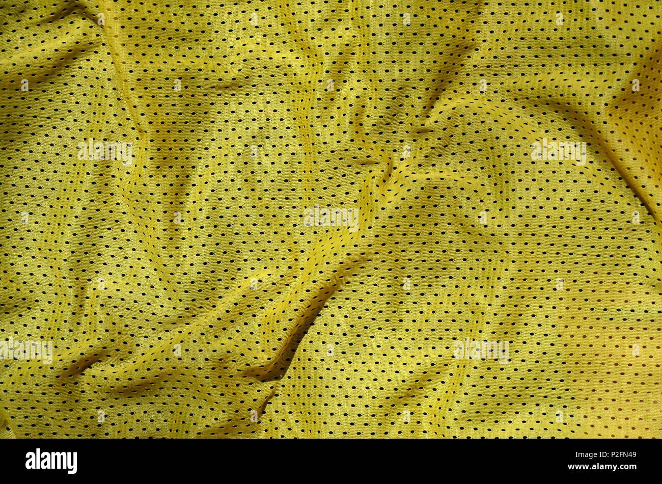 Vêtements de sport tissu texture background. Vue de dessus