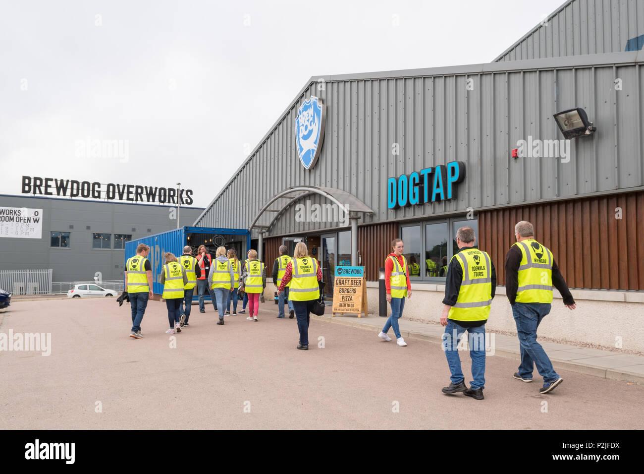 Visite de la brasserie Brewdog Brewdog artisanat à la brasserie et l'AC, Ellon, Aberdeenshire, Scotland, UK Photo Stock