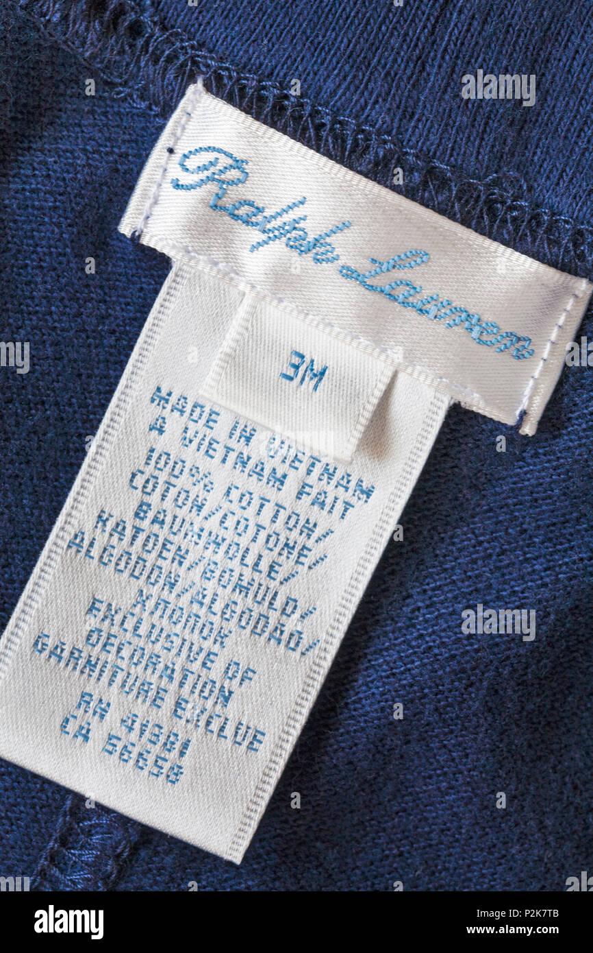 6e521554ef24f8 Dans l étiquette Ralph Lauren vêtements bébé garçon haut au Vietnam, 100 %  coton