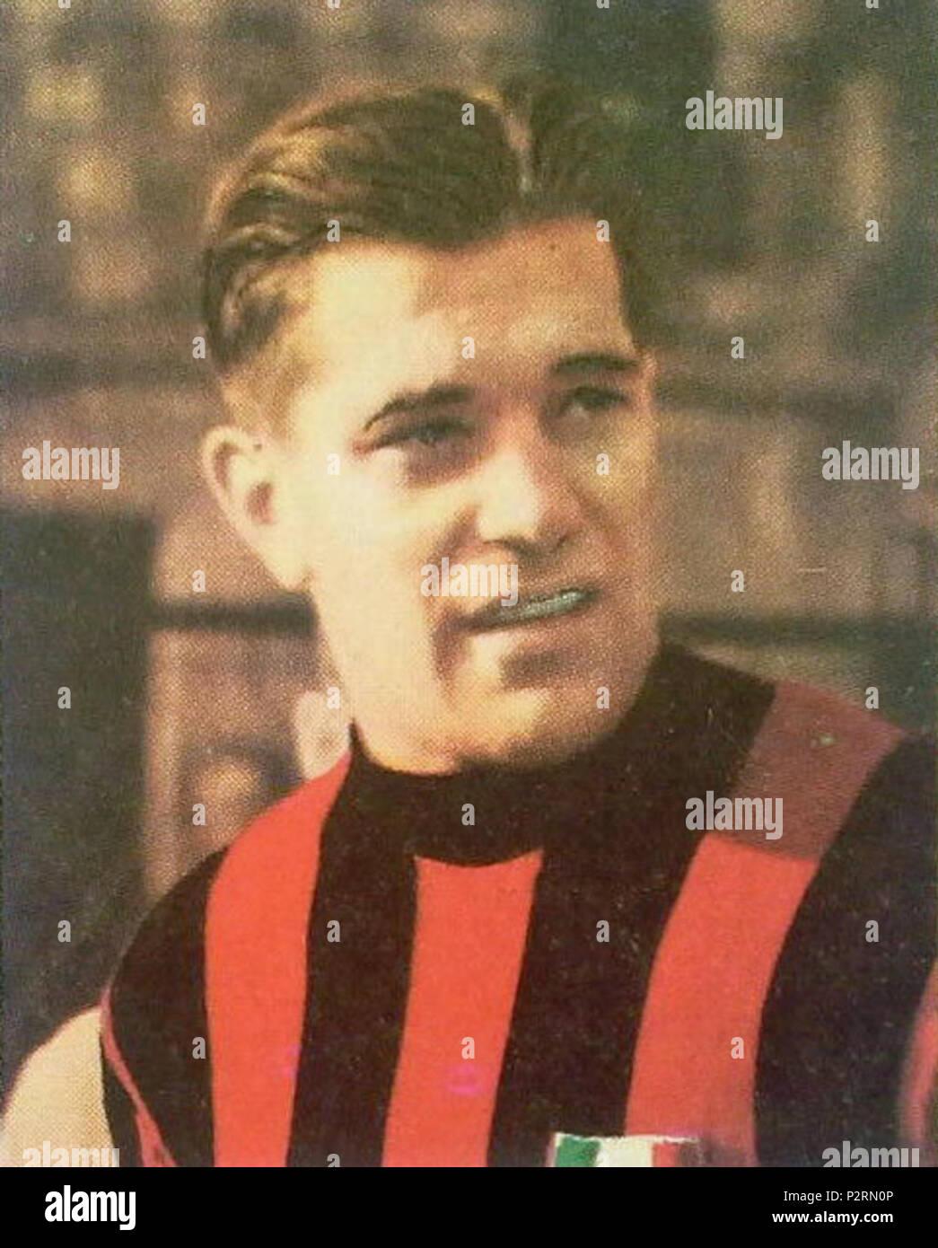 . Italiano: Il calciatore svedese Gunnar Nordahl al Milan nella prima metà degli anni 50 del XX secolo. Entre 1951 et 1956. Inconnu 38 Gunnar Nordahl - AC Milan Photo Stock