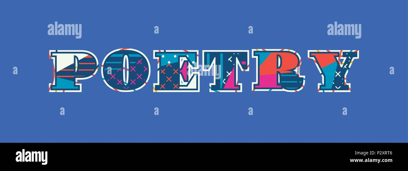 Le concept de poésie écrit en abrégé colorés de la typographie. 10 EPS vectoriel disponible. Illustration de Vecteur