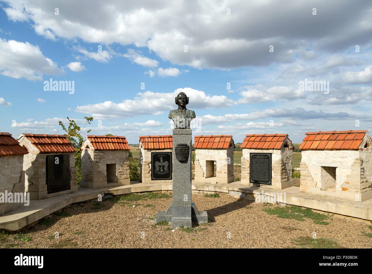 Bender, Moldova, monument de l'Luegenbaron Muenchhausen sur la forteresse Bender Banque D'Images
