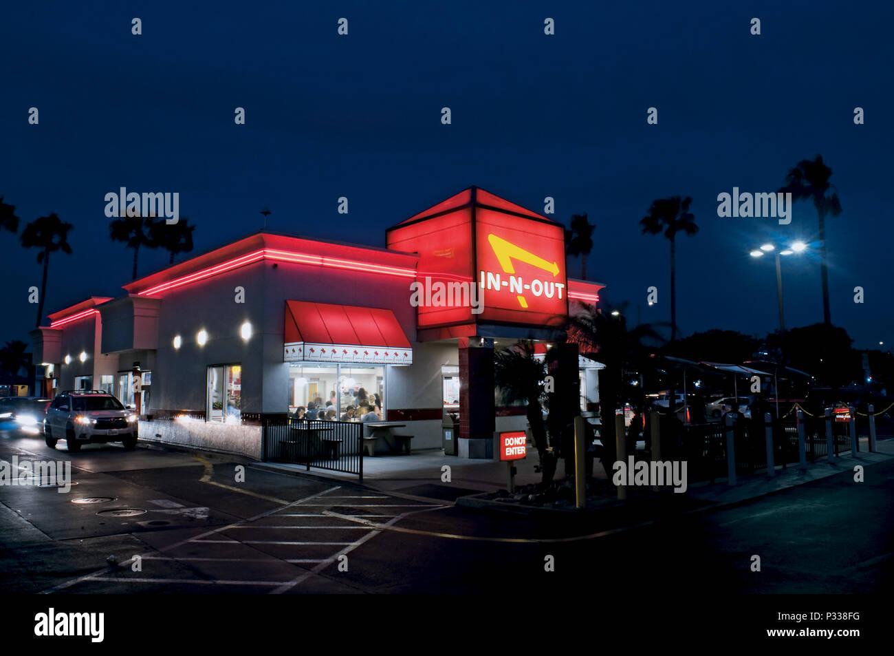 In-N-out au restaurant de l'aéroport LAX Los Angeles, Californie Photo Stock