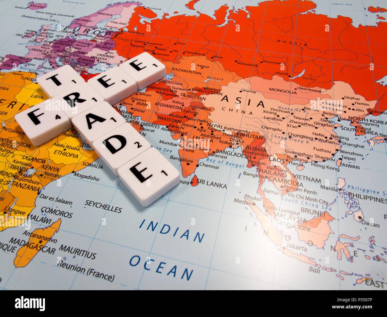 Carte Du Monde Kuala Lumpur.Le Commerce International De Gauche A Son Cours Naturel Sans Droits