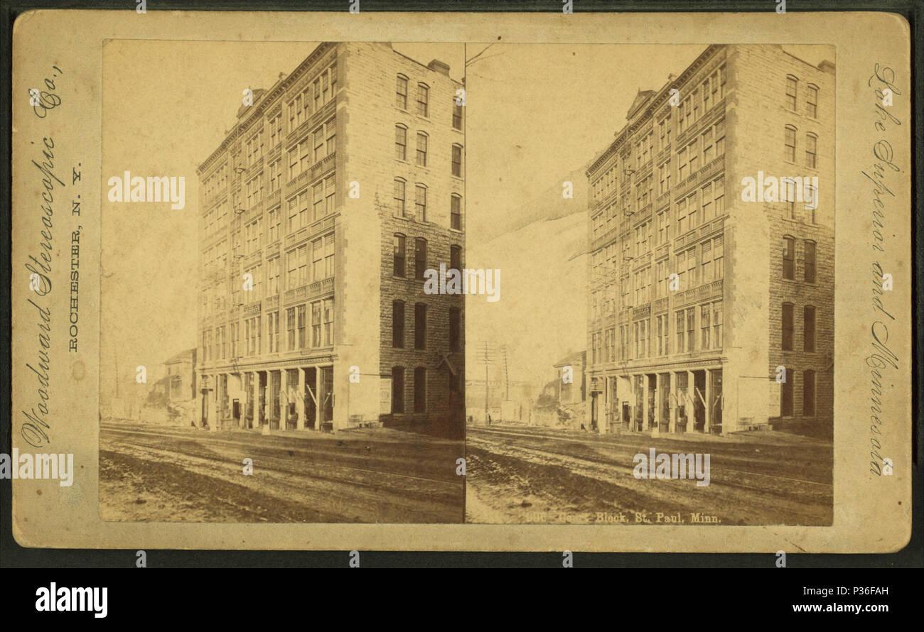 77 Bloc de cour, St Paul, Minn., par Woodward Stereoscopic Co. Banque D'Images