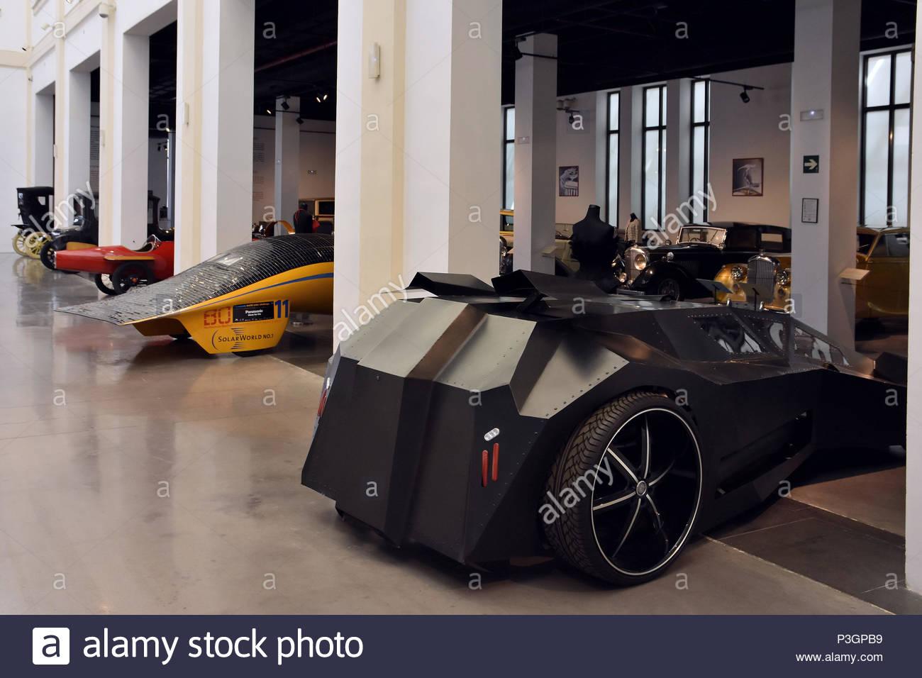 Star Wars prototype de voiture à air comprimé affichée à l Musée de l'automobile (Museo Automovilístico) à Malaga en Espagne l'Europe. Photo Stock
