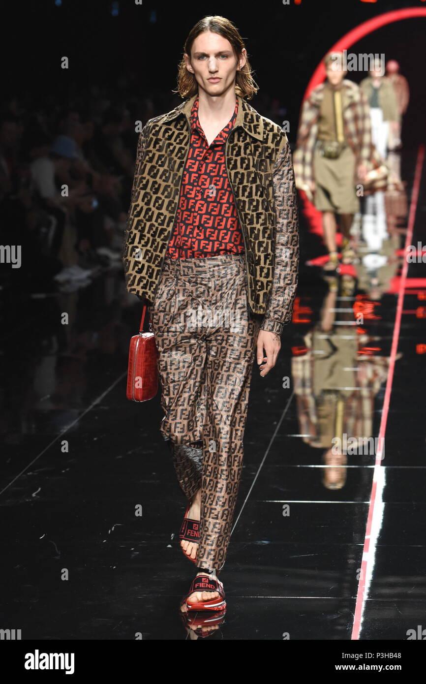 Milan Italie 18 Juin 2018 Milan Mode Homme Printemps été 2019