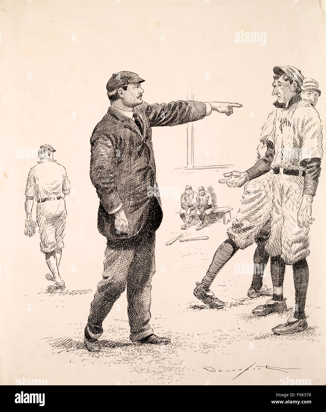 Juge-arbitre de baseball Photo Stock