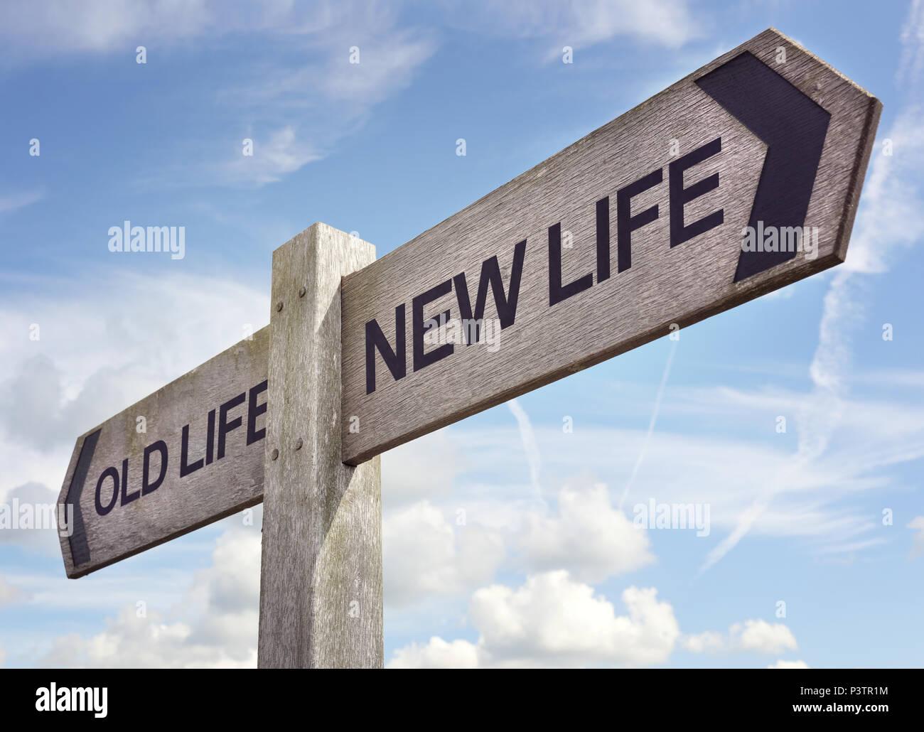 Nouveau concept de vie, nouveau départ pour la résolution du nouvel an, les régimes et de vie sain Photo Stock