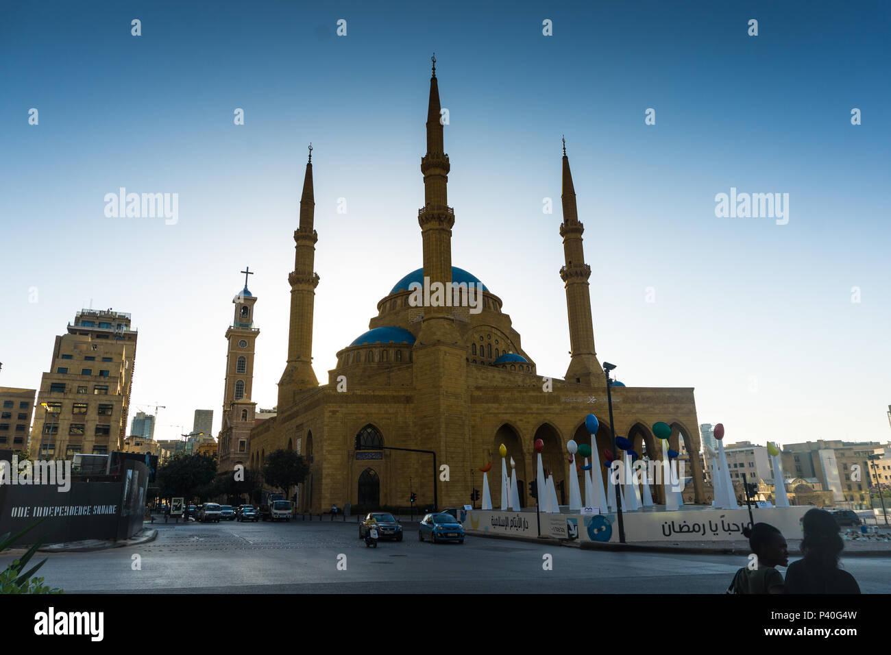 La Mosquée Al Omari Beyrouth Banque D'Images